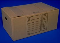 quick set cardboard corrugated file box