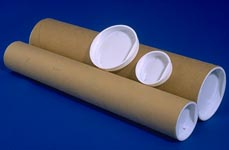 spiral wound paper shipping tubes with caps