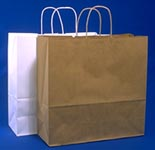 paper shopping bags, brown or white retail paper gift shopping bags
