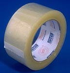 1.8 mil. clear &amp. tan poly packaging tape